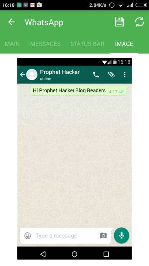 Fake Whatsapp Conversation in Android
