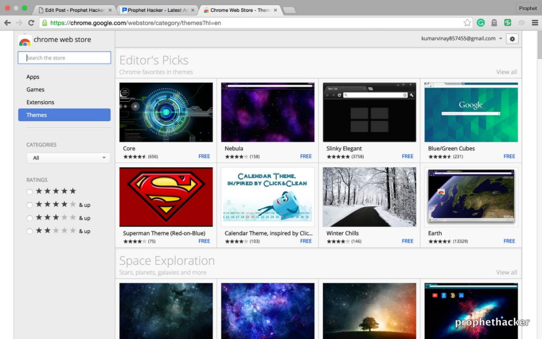 Get a new theme for your Google CHrome