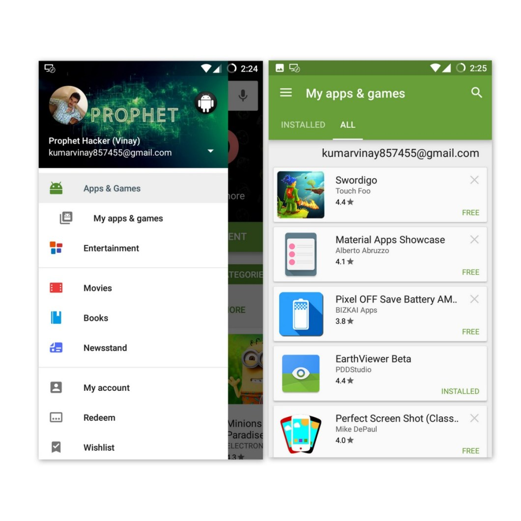 See all Installed or Uninstalled Android App in Google Play Store- Google Play App