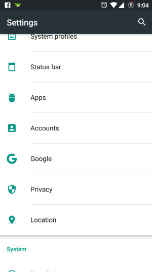 Android Phone Account Settings- Marshmallow Phone