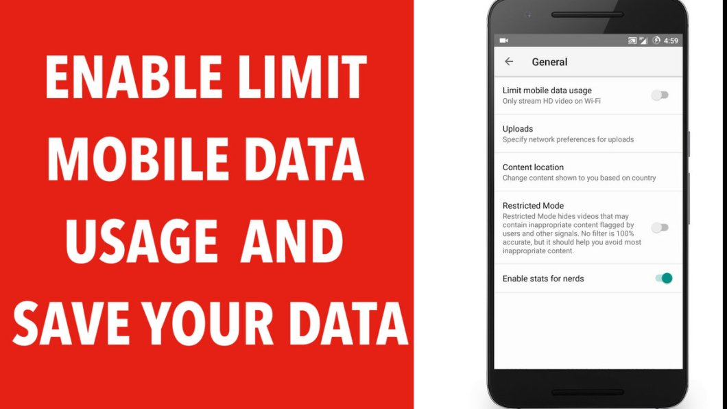 Enable Limit Mobile Data Usage and Save your Data