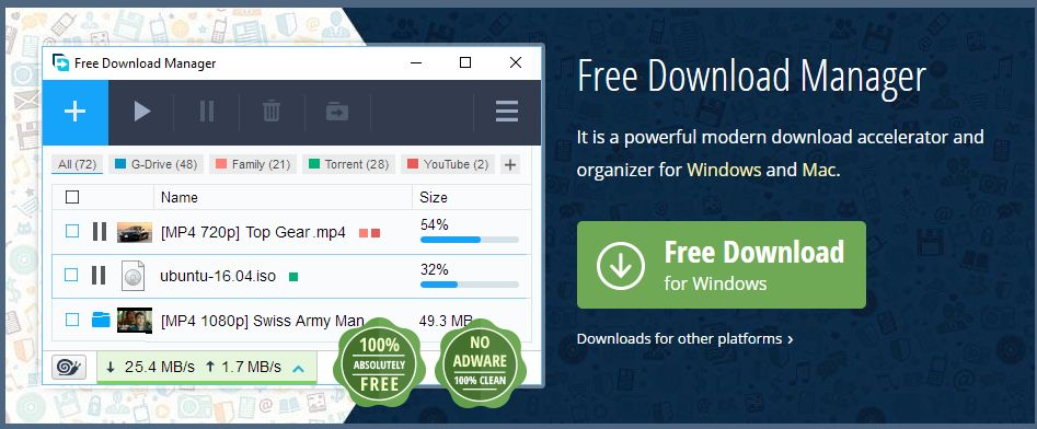 Best Alternative of IDM|Free Download Manager for Windows