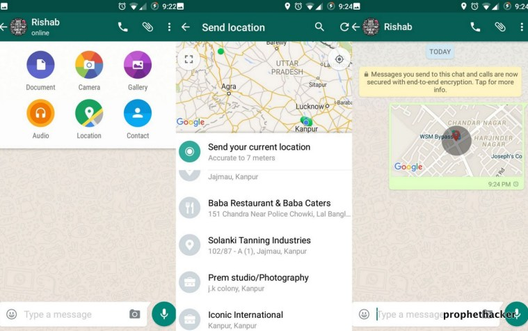 Share Location with your Whatsapp Messenger