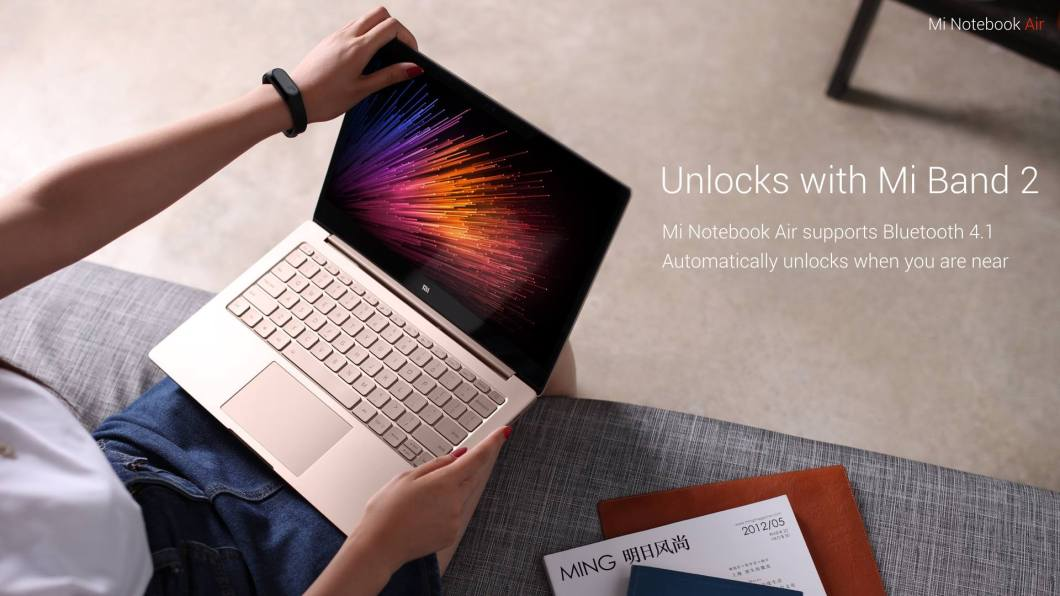 Unlock Mi Notebook Air Laptop with Mi Band