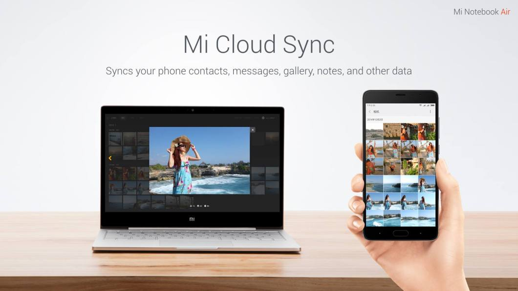 Xiomi Mi Notebook Air Mi Cloud Sync