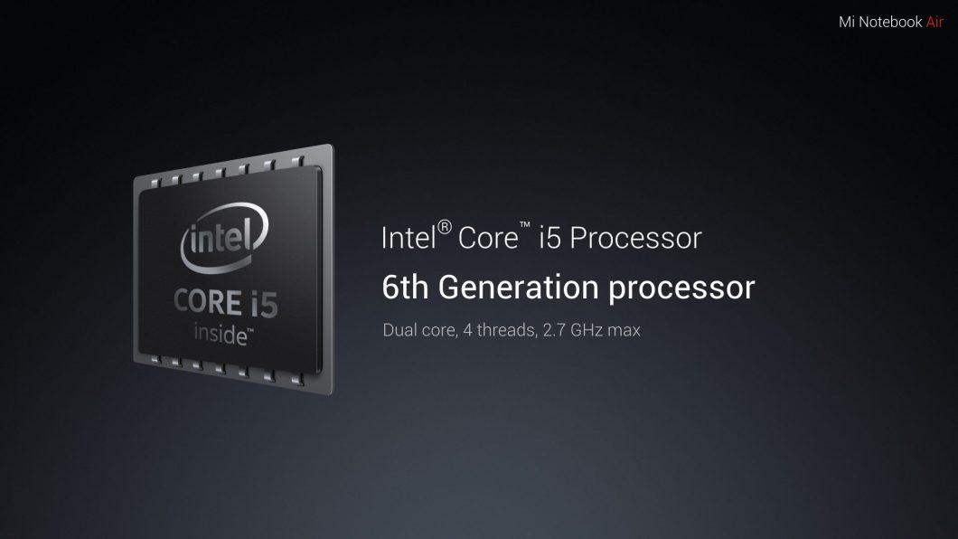 Mi Notebook Air Processor