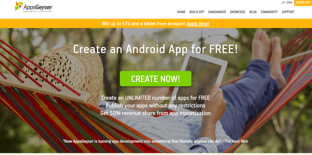 AppGester Create Android App for Free without Coding