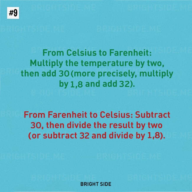 Converting Celcius to Fahrenheit and vice versa