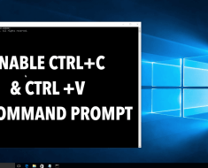 How To Enable Ctrl+C & Ctrl+V For Copy-Pasting In Windows Command Prompt