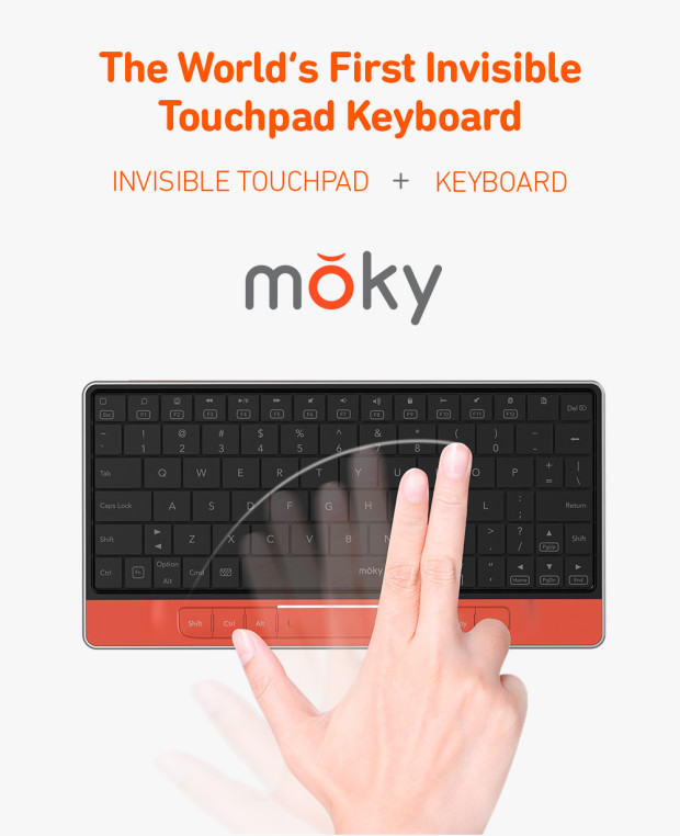 moky: Invisible Touchpad Keyboard