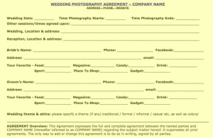 Portrait Photography Contract Template. photography contract ...