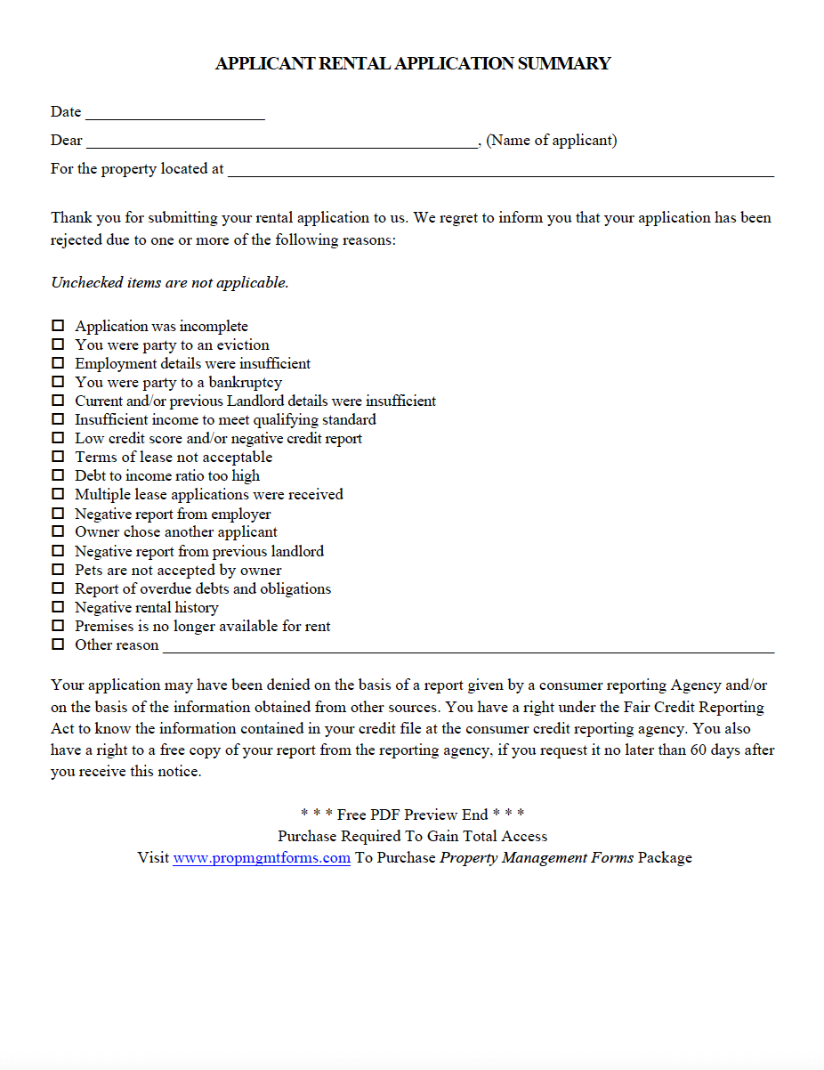 Landlord 30 Day Notice Form