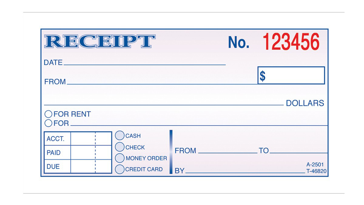 Rent Payment Receipt Property Management Forms Contracts