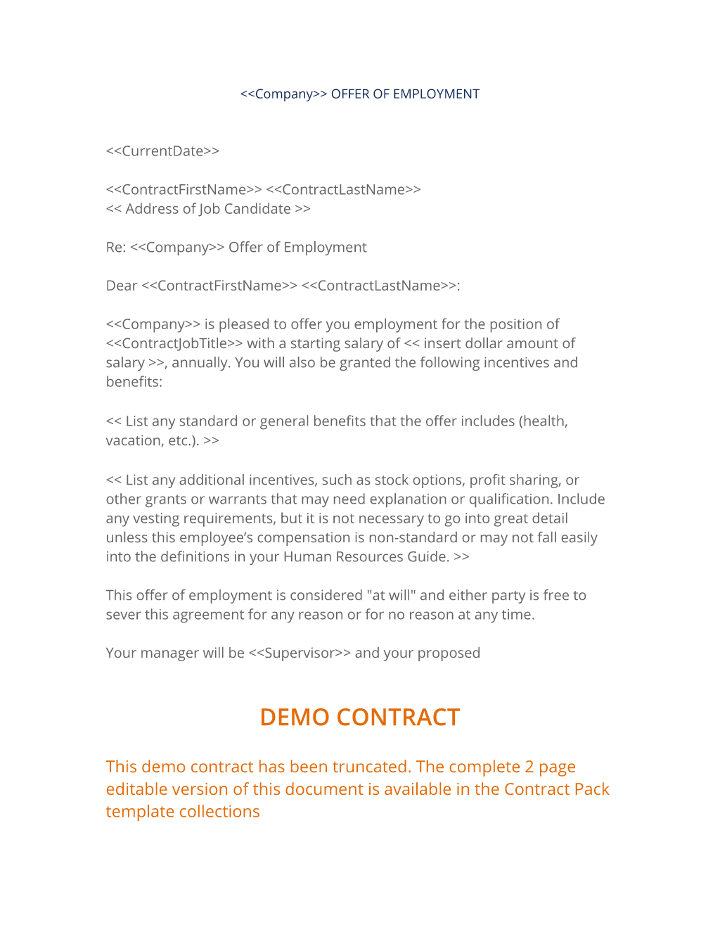 Offer Of Employment Letter 3 Easy Steps