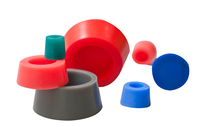 Silicone Plugs Powder Coating Samples
