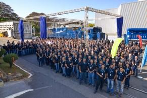 Lançamento Locomotiva GE e apresentação para o Cliente Julio - GE Transportation - Contagem - MG - Brasil. Foto: MPerez