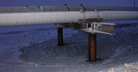 A 2006 oil leak in Alaska, which temporarily shut down the Prudhoe Bay drilling field pipeline, was referenced in a letter dated Jan. 14, 2010, from two congressman to BP Exploration (Alaska) Inc. (Photo courtesy of the Alaska Department of Environmental Conservation.)