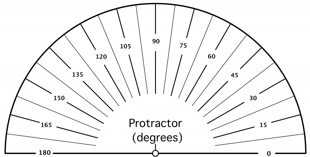 graphic relating to Printable Protractors titled Printable Protractor Free of charge Down load Clip Artwork No cost Clip