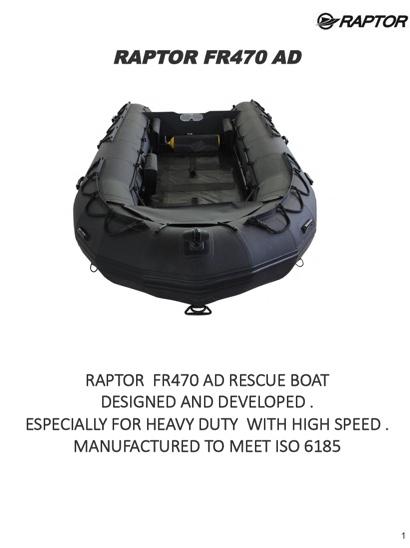 Raptor FR470 Rescue Boat