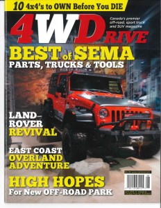 PRORYDE JEEP JK MAKES THE COVER OF 4WDrive MAGAZINE