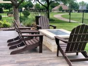 Outdoor fire features designed by Proscapes