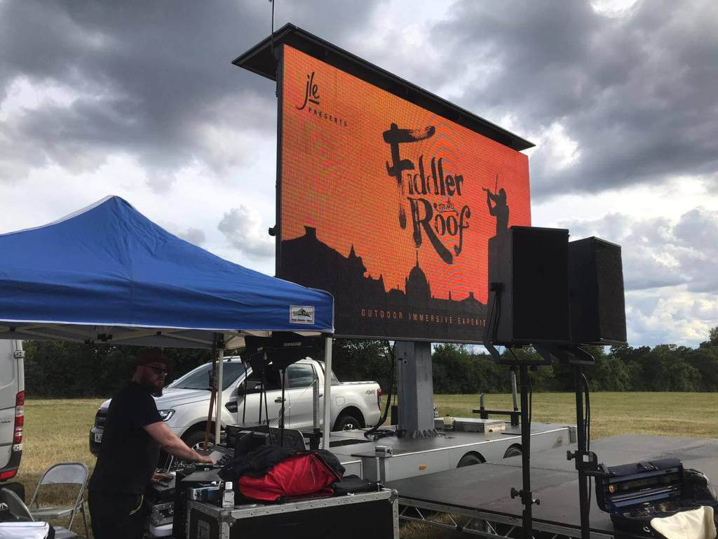 outside Screen and Stage Hire