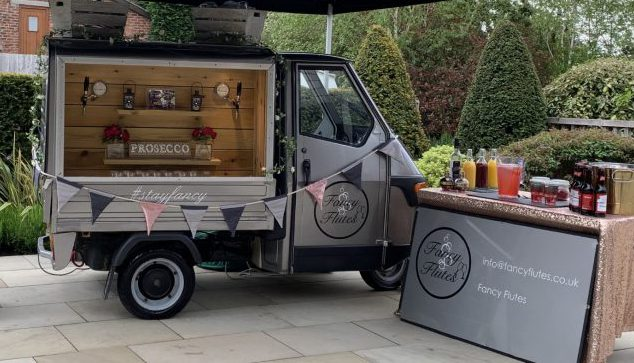 Prosecco Van for Hiire - Glass of Fizz for the wedding