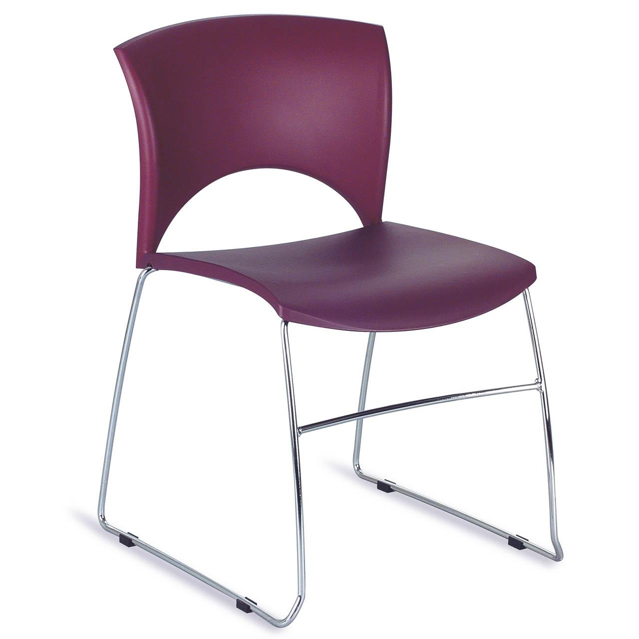 chaise accueil lola plastique empilable pas cher