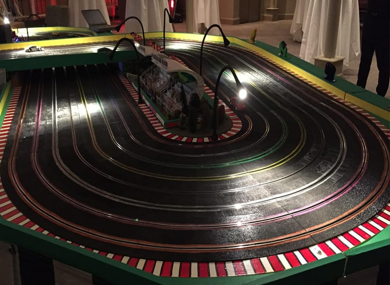 8 Lane Scalextric light up - other side