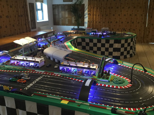 mega digital scalextric hire
