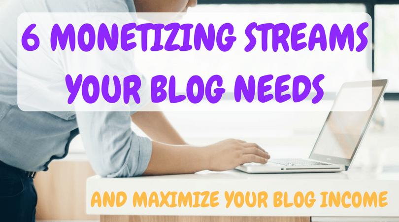 6 MONETIZING STREAMS YOUR BLOG NEEDS