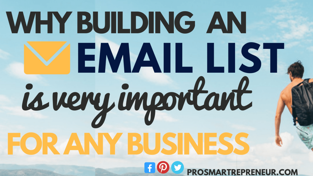 Why Building Your Email List is so Important Today! (Make Money, Business Backup etc)