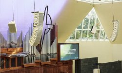 Meyer Sound LINA Arrays flown in the first trio of churches