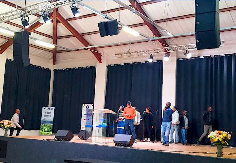 Electro-Voice sound system installed at AFM Church in Botswana