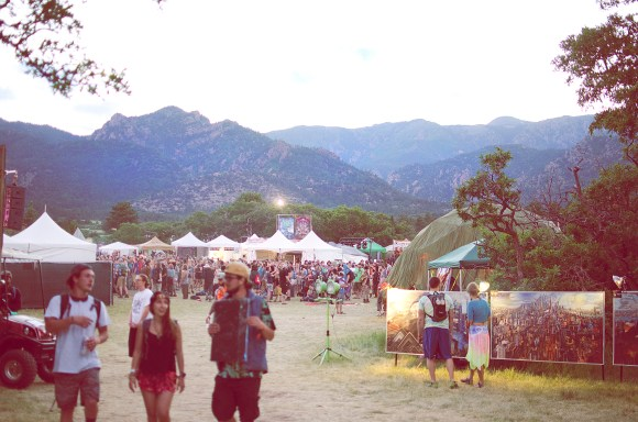 Photo by Billi Jo Hart | The Prospectus A view of Sonic Bloom Music Festival's vending area and scenic mountain backdrop on Friday, June 19, 2015.