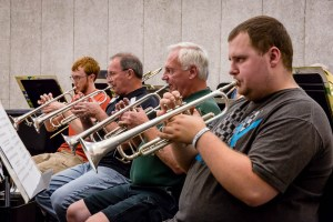Photo by Scott Wells | The Prospectus Members of the Parkland Wind Ensemble practice in the C-Wing on Sept. 24, 2015. The ensemble is under the direction of Larry Stoner.
