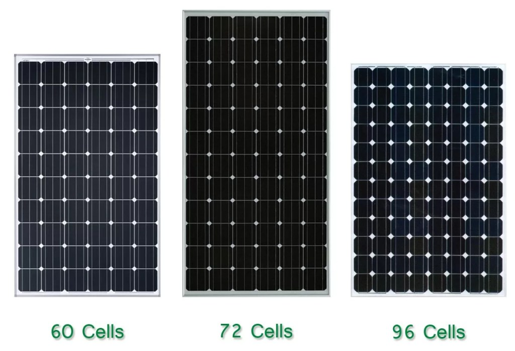 60 cell and 72 cell solar panels