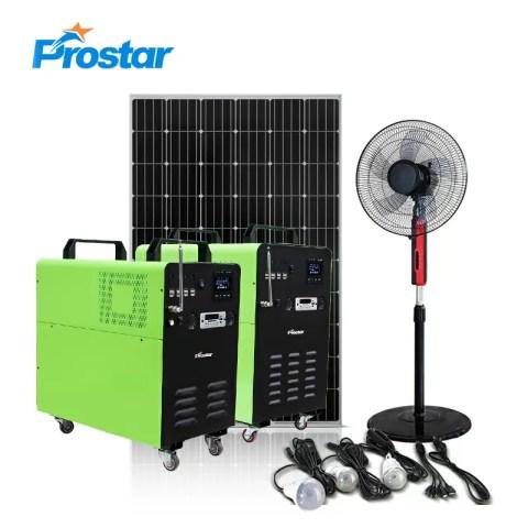 Prostar solar portable power station 1000w for heavy duty power supply
