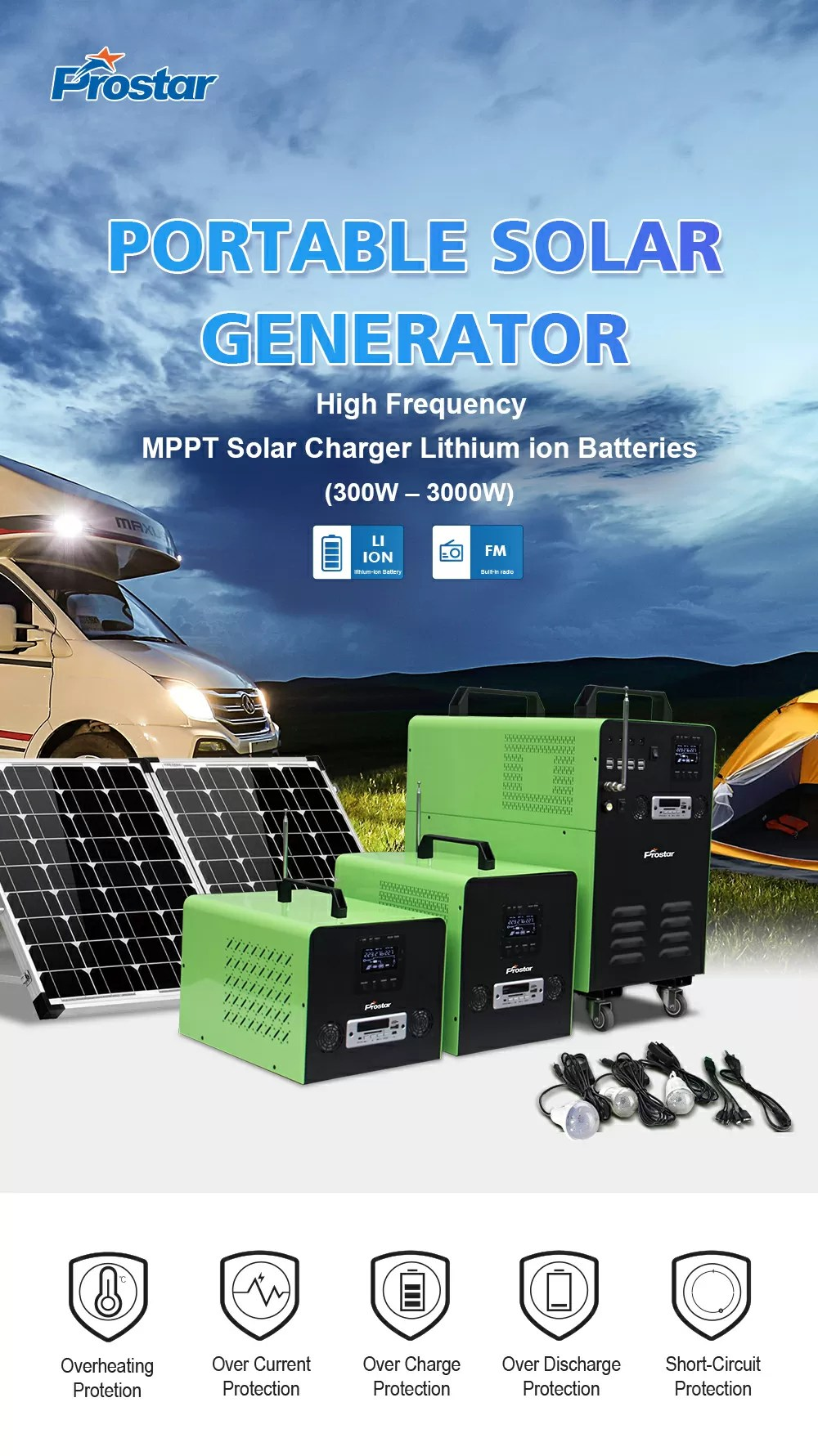 high frequency solar power generator