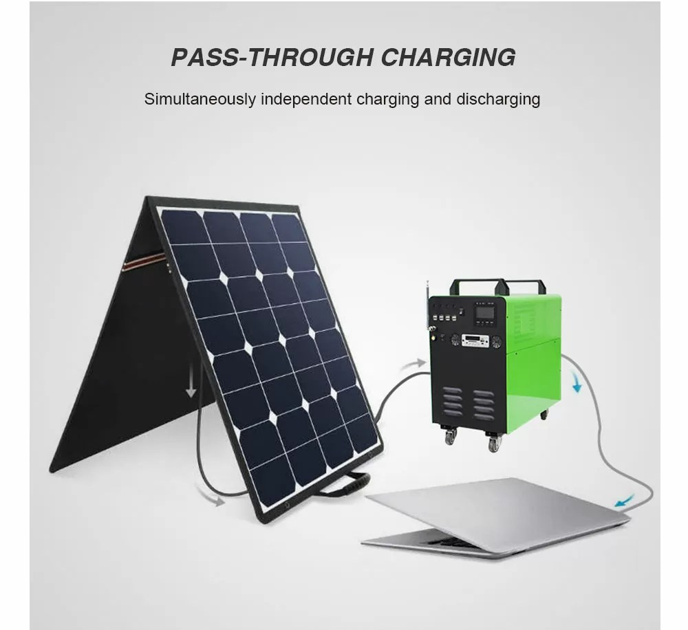 solar powered generator charging