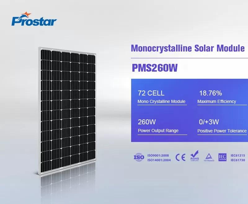 renewable power 260w solar panel monocrystalline 24v
