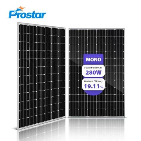 Prostar PMS280W free electricity photovoltaic power 280w solar panel