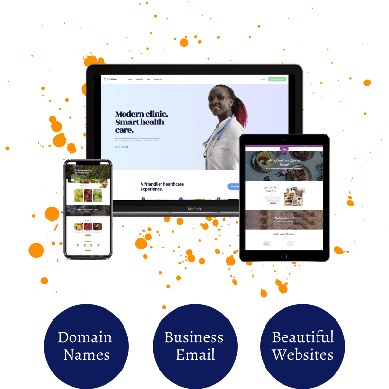 Domains Names, Business Email, Beautiful Websites