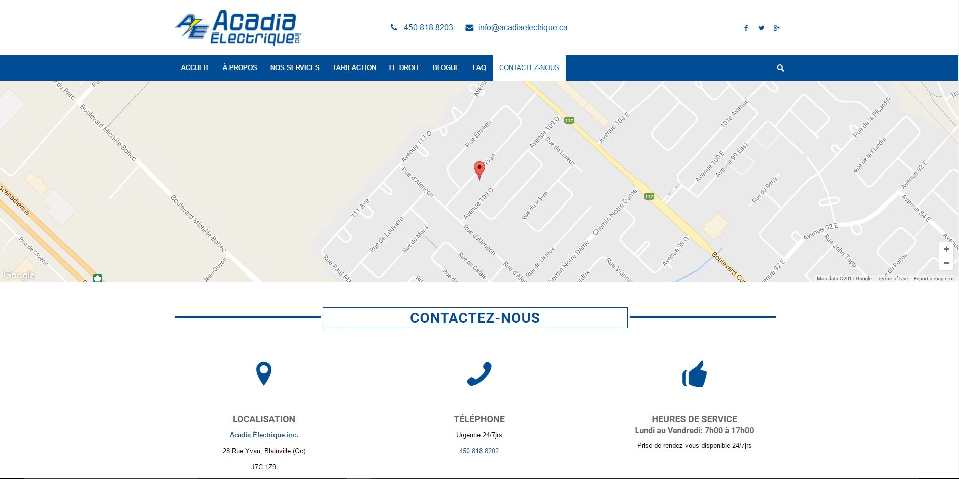 Agence web - Marketing digital - création site web - Protai-in - acadia electriquE