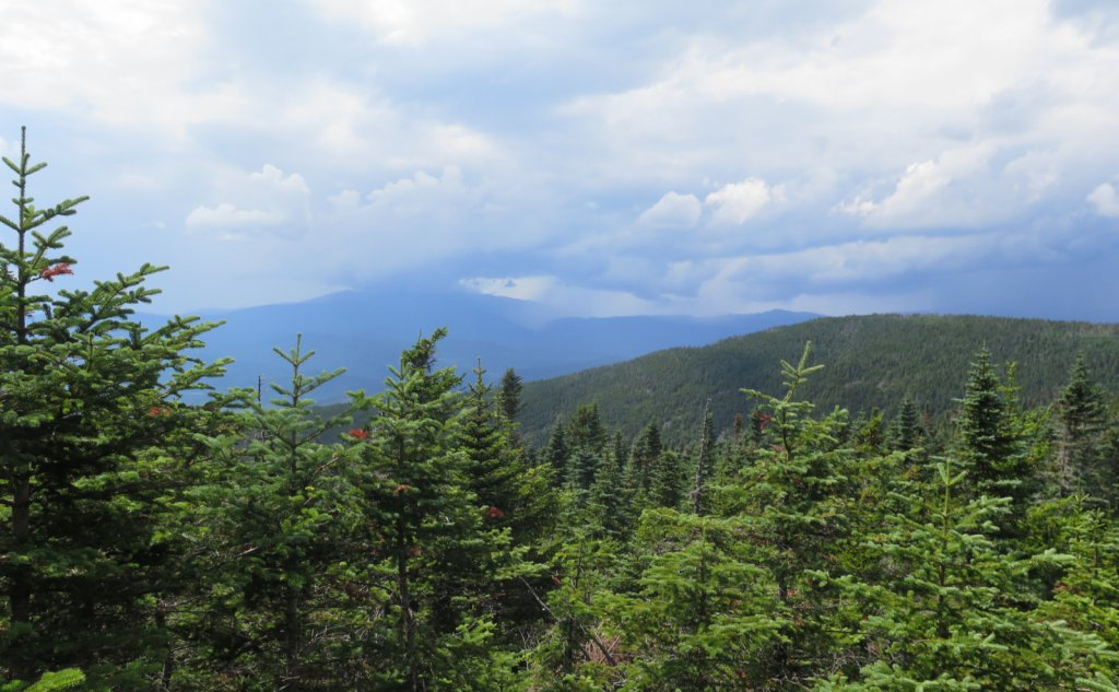 Storm clouds over Mt Moosilauke as seen from Mt Tecumseh