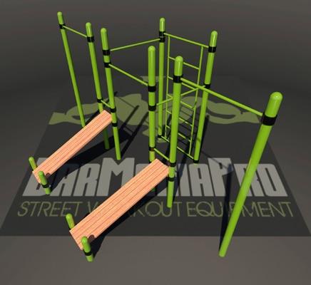 , équipement, module, parc, street workout, calisthénics, Franc