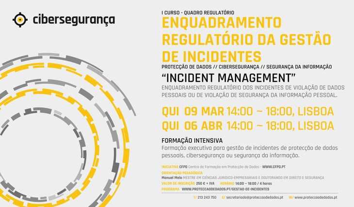 I Curso - Incident Management - «Enquadramento Regulatório da Gestão de Incidentes»