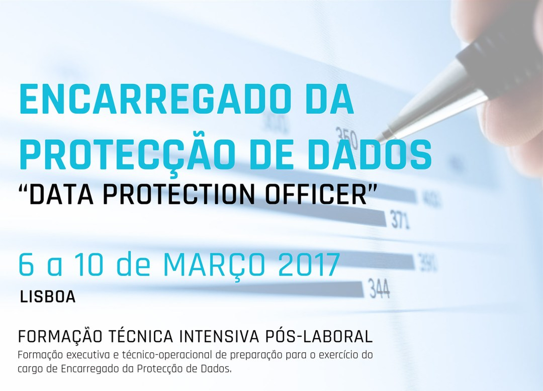 """Curso «Encarregado da Protecção de Dados - """"Data Protection Officer""""»"""