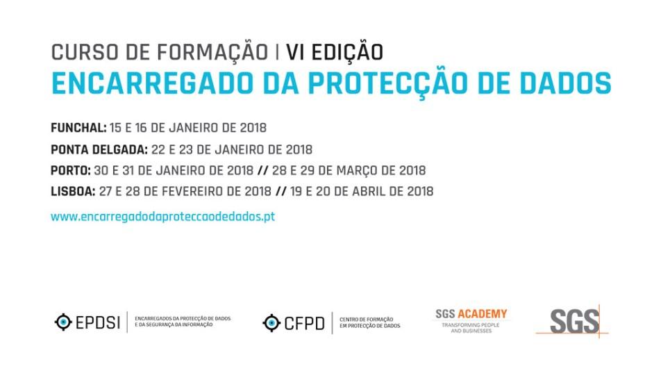Curso de Formação - Encarregado da Protecção de Dados - VI Edição - Agenda Simples