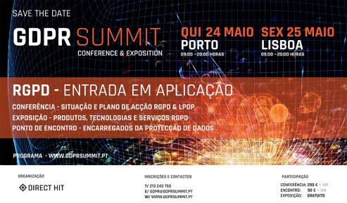 GDPR Summit - Portugal - Data Protection Summit - May 24 (Oporto) and 25 (Lisbon) 2018
